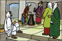 L'offrande de la veuve pauvre au Temple de Jérusalem