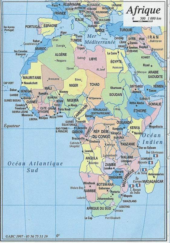 Carte Afrique Avec Pays.Carte D Afrique