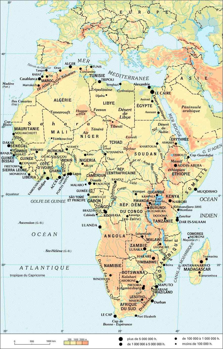 Carte De Lafrique Maghreb.Cartes D Afrique Francophone Carte Du Maghreb Niger Togo