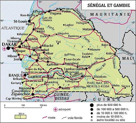Carte Géographique Du Sénégal Détaillée | tonaartsenfotografie