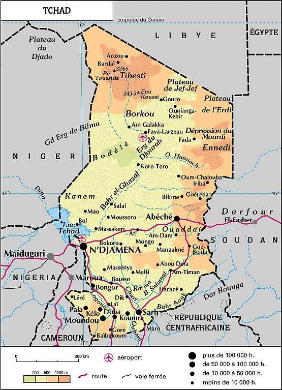 Extrêmement Cartes d'Afrique francophone, carte du Maghreb (Niger, Togo, Tchad  IA08